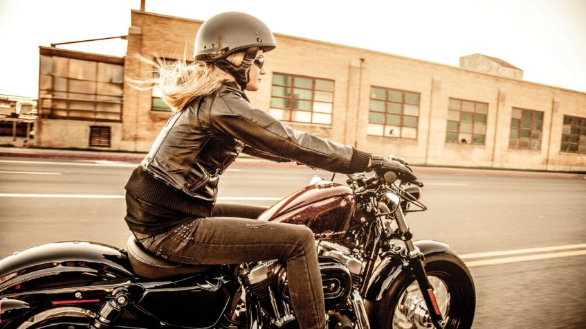 Harley Davidson sportster tall man