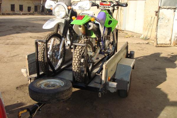 Крепление мотоцикла в прицеп своими руками 69