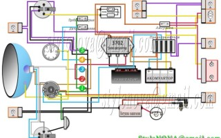 Схема электропроводки Мотоцикл днепр 12 вольт