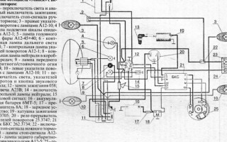 Электрическая схема Мотоцикла Минск 12 вольт 125