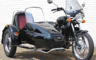 Мотоцикл Ява с люлькой