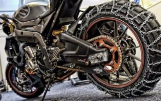 Мотоцикл Урал на цепи