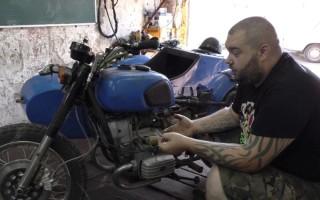 Настройка карбюраторов к68 на Мотоцикле днепр
