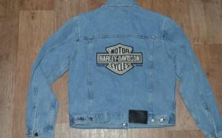 Джинсовая куртка Harley Davidson