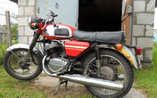 Мотоцикл с вилкой от явы