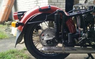 Старый Мотоцикл днепр