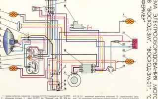 Схема проводки Мотоцикла восход 3м 12 вольт