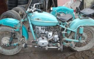 Мотоцикл Урал с передним приводом