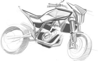 Как нарисовать Кроссовый Мотоцикл поэтапно