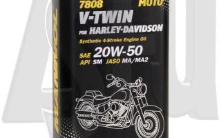 Какое масло лить в Harley Davidson