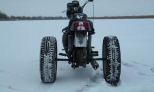 Самодельный снегоход из мотоцикла иж планета