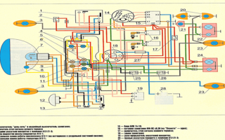 Схема проводки Мотоцикла Планета 5