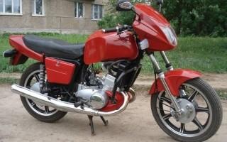 Кроссовый мотоцикл урал с коляской