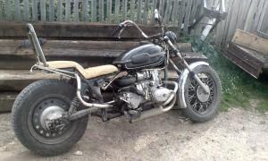 Самодельный мотоцикл с коляской