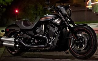 Harley Davidson night road