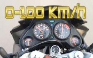 Хонда СБР 600 разгон