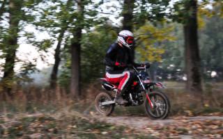 Питбайк против кроссового Мотоцикла