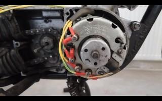 Проводка на свет на Мотоцикле Минск