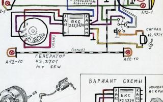 Схема проводки Мотоцикла восход 3м