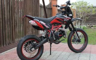 Кроссовый Мотоцикл на дорожной резине