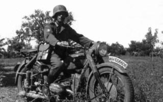 Мотоцикл БМВ времен вов
