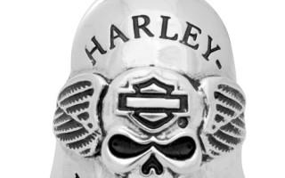 Колокольчик Harley Davidson bell ride silver flames