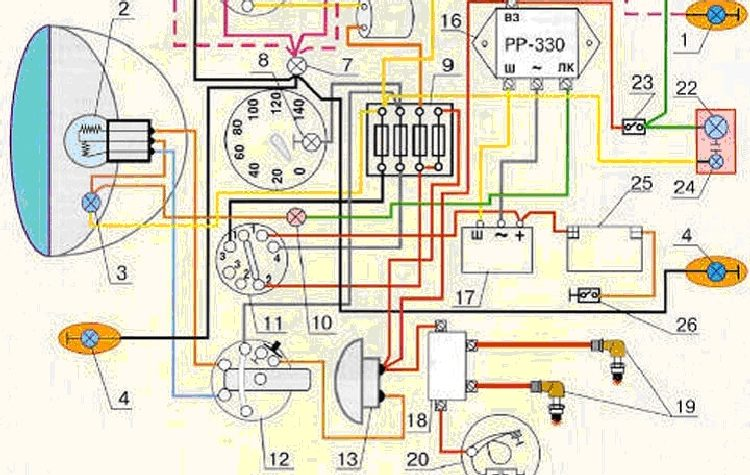 Схема проводки gsx 750