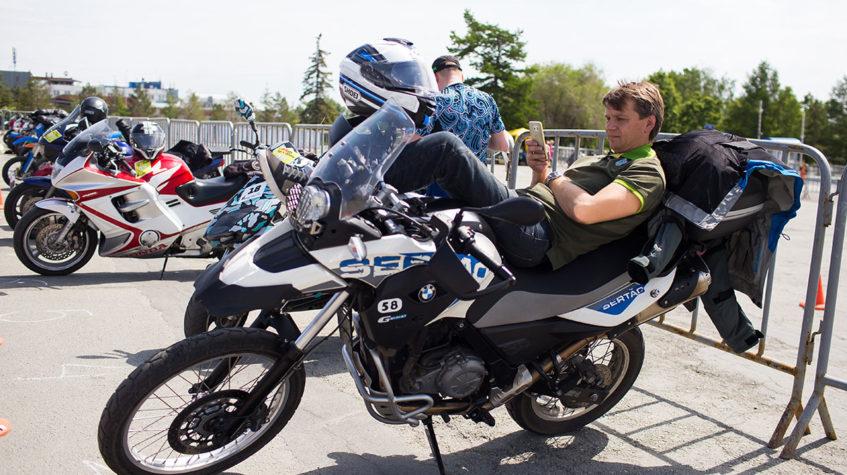 Вождение спортивного мотоцикла